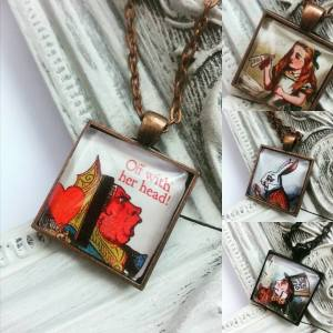 Alice Book Pendants