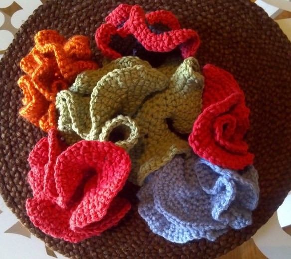 Crochet Brooches group