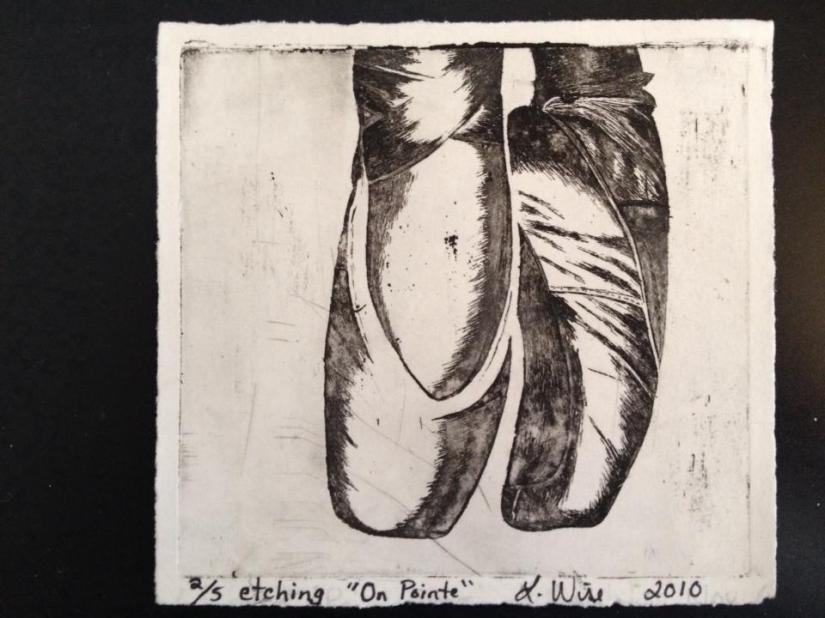 Gillian Etching on Pointe 2 of 5 2010