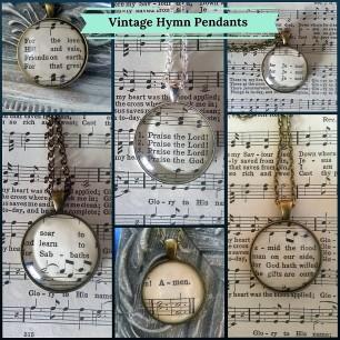Vintage Hymn Pendant (1)