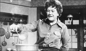 This is Julia Childs, not me, making soup - just in case there was any confusion...